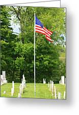 Old Yard Cemetery In Stowe Vermont Greeting Card