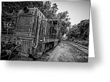 Old Yard Switcher Engine Valley Railroad Greeting Card