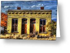 Old Yellow House In Buena Vista Greeting Card