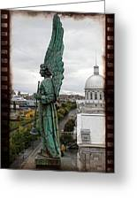 Olde Montreal Angel Greeting Card by Alice Gipson