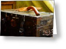 Olde Suit Case Greeting Card