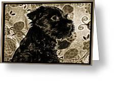 Olde World Canine Greeting Card
