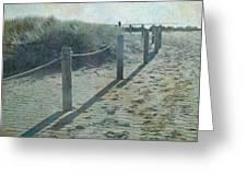 Olde Worlde Beach Greeting Card