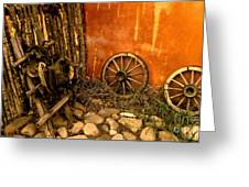 Olden Days Greeting Card by Claudette Bujold-Poirier