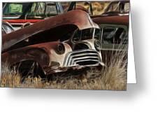 Oldsmobile 40s Greeting Card