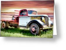 Oldsmobile Sunset Greeting Card by Shannon Rogers