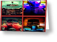 Oldtimer Collage Greeting Card