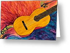 Ole Guitar Greeting Card