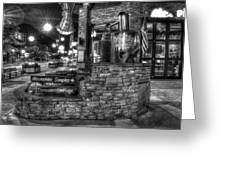 Ole Smoky Tennessee Moonshine In Black And White Greeting Card