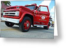 Ole Time Fire Truck Greeting Card by Kelly Kitchens