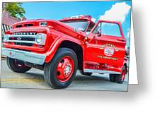 Ole Time Fire Truck Series 1 Greeting Card by Kelly Kitchens