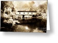 Olin Dewey Covered Bridge 35-04-03 Greeting Card