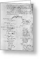 Olive Branch Petition, 1775 Greeting Card