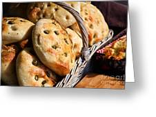 Olive Bread Greeting Card