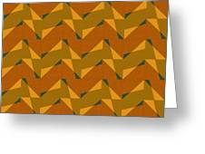 Olive Green And Orange Chevron Collage Greeting Card