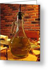 Olive Oil On Table Greeting Card