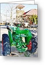 Oliver 60 Tractor In Dell Greeting Card