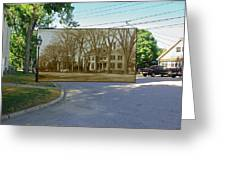 Oliver C. Brownell House On The Commons In Little Compton Rhode Island Greeting Card