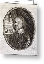 Oliver Cromwell, English Politician Greeting Card