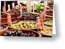 Olives In Barrels Greeting Card