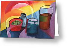 Olives Salt N Beer Greeting Card by William Killen