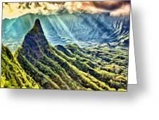 Olomana And The Koolau Range Greeting Card