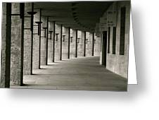 Olympiastadion Berlin Corridor Greeting Card