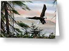 Olympic Coast Eagle Greeting Card