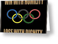 Olympic Spirit Greeting Card
