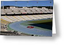 Olympic Stadium Barcelona Greeting Card