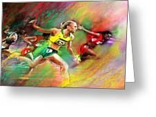 Olympics 100 Metres Hurdles Sally Pearson Greeting Card