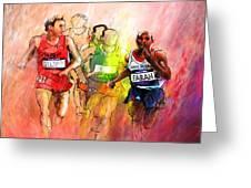 Olympics 10000m Run 01 Greeting Card