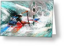 Olympics Canoe Slalom 02 Greeting Card by Miki De Goodaboom