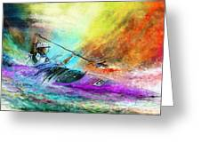 Olympics Canoe Slalom 03 Greeting Card
