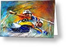 Olympics Canoe Slalom 04 Greeting Card by Miki De Goodaboom