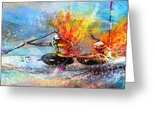 Olympics Canoe Slalom 05 Greeting Card by Miki De Goodaboom