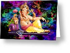 Om Shanti Ganesh Greeting Card