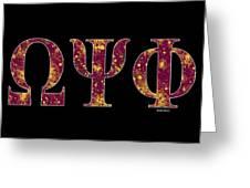Omega Psi Phi - Black Greeting Card