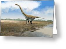 Omeisaurus Tianfuensis, An Euhelopus Greeting Card by Roman Garcia Mora