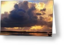 Ominous Cloud At Sunset Greeting Card