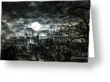Ominous Sun Greeting Card