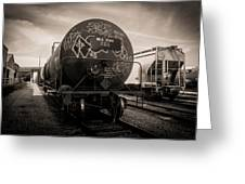 Ominous Train Under Dark Skies In New Orleans Greeting Card by Louis Maistros