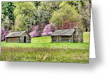 On A Hill At Valley Forge Greeting Card