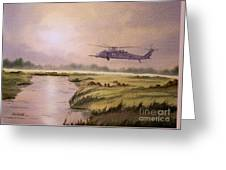On A Mission - Hh60g Helicopter Greeting Card