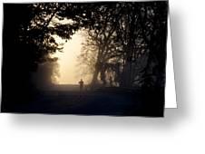 On A Morning Jog Greeting Card