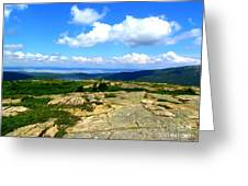 On A Mountain In Maine Greeting Card