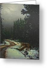 On A Snowy Evening Greeting Card