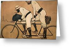 On A Tandem Greeting Card
