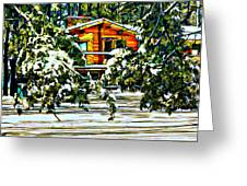 On A Winter Day Greeting Card