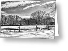 On A Winters Day Greeting Card